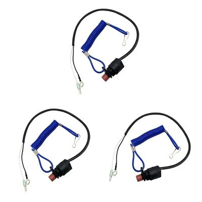 AU21.86 • Buy 3Pcs Boat Engine Safety Cut Off Kill Stop Switch Lanyard For Yamaha Outboard