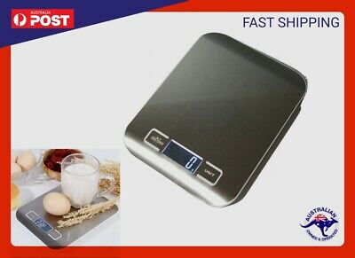 AU12.59 • Buy  Kitchen Scale Weight 5kg 1g Cooking Food Electronic Digital LCD Stainless Scale