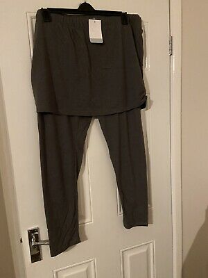 Grey Full Length Leggings With Attached Skirt Size 24 JD Williams • 1.40£