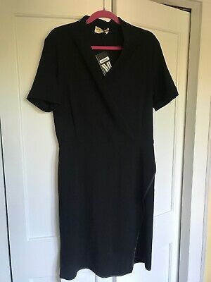 $ CDN65.78 • Buy NWT MM Lafleur Tory 2.0 Black Faux Wrap Dress Size 10
