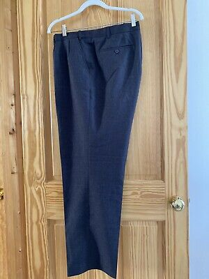"""£12 • Buy Taylor & Wright Dark Grey Suit Trousers - 44""""/31"""""""