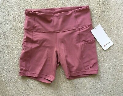 """$ CDN169.99 • Buy Lululemon Fast And Free Short High Rise 6"""" Cherry Tint Size 8 Or 10"""
