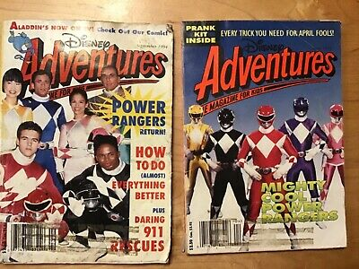 $10 • Buy Disney Adventures Featuring THE POWER RANGERS April,94'--Sept,1994( Two Issues)