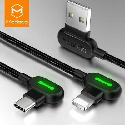 AU13.99 • Buy MCDODO 90 Degree Right Angle Type C Micro Cable Fast Charge Charging 0.5m - 3m