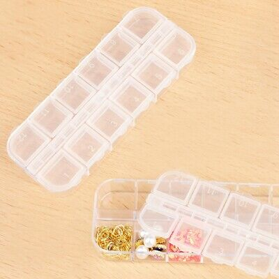 12 Compartment Organiser Storage Box Nuts Beads Jewellery Earring Craft Nail Art • 4.94£