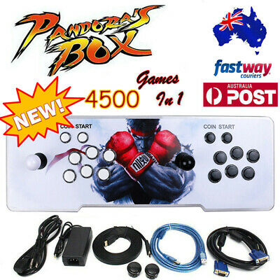 AU246.68 • Buy Pandora's Box 4500 Games In 1 Retro Arcade Console USB VGA HDMI TV PC Projector