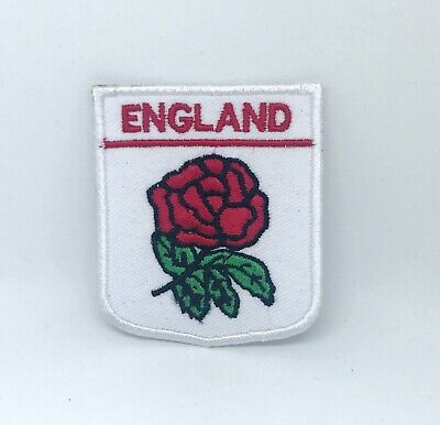 England Rugby Union Red Rose Iron On Or Sew On Embroidered Patch  • 1.99£