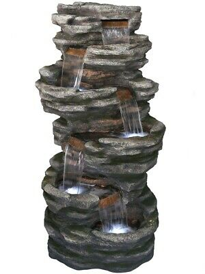 Washington Slate Falls Garden Water Feature With LED Lights Aqua Creations • 1,999.99£