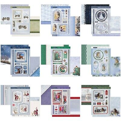 Hunkydory Christmas Card Making Kits - Winter Wishes - Choice Of Topper Sets • 3.99£