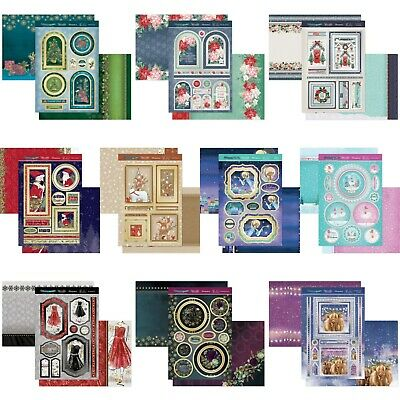 Hunkydory Christmas Card Making Kits - Christmas Sparkle - Choice Of Topper Sets • 3.99£