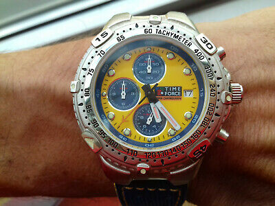 £128.21 • Buy Time Force Vintage Collection Super Chronograph Tf901903 Nos Watch Montre Uhr