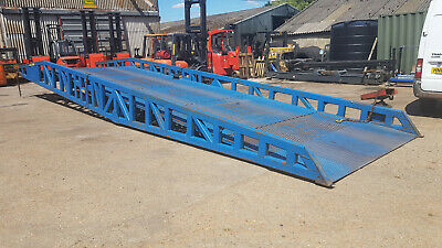 15 Ton 2.6m Extra Wide Container Loading Ramp Dock For Diggers And Macinery • 7,250£