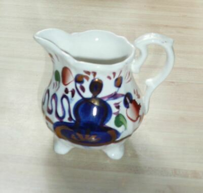 Antique Small Victorian Welsh Gaudy Cream Jug, Handpainted, 3.5ins • 10£