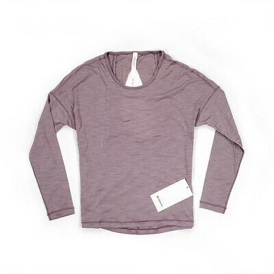 $ CDN55 • Buy NWT [Size 6] Lululemon Womens Get Set Long Sleeve Heathered Smoky Blush