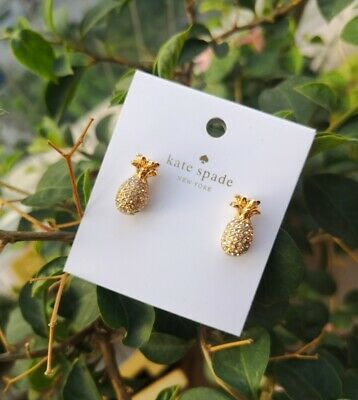 $ CDN25.51 • Buy KATE SPADE NEW YORK Gold By The Pool Pineapple Stud Earrings