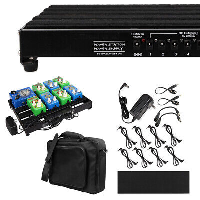 $ CDN170.71 • Buy Guitar Powered Effect Pedal Board 15''x11  With Power Supply & Carry Bag Case