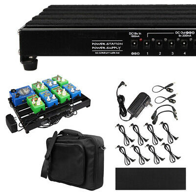 $ CDN171.74 • Buy Guitar Powered Effect Pedal Board 15''x11  With Power Supply & Pedal Board Bag