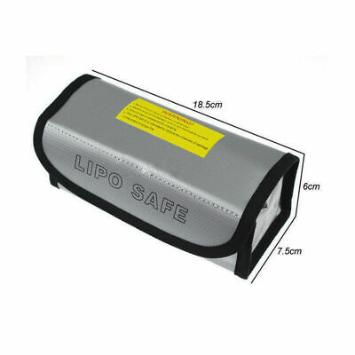 LiPo Safe Battery Guard Charging Protection Bag Explosion Fireproof 185x75x60mm • 3.29£