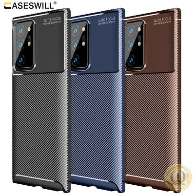 $ CDN5.16 • Buy For Samsung Galaxy Note 20 S20 Ultra Case Slim Carbon Fiber Shockproof TPU Cover