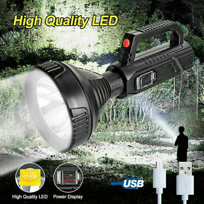 135000LM LED Searchlight Spotlight USB Rechargeable Hand Torch Work Light Lamp • 12.99£