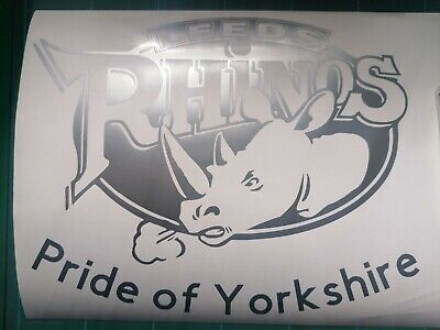 Leeds Rhinos Rugby Vinyl Decal Sticker • 15£