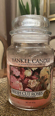 Yankee Candle Fresh Cut Roses Large Jar 623g Floral Scent Ised • 8£