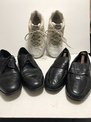 $ CDN8 • Buy Size 12 Shoes Lot Of Three Pair . Slipon, Oxford, And Athletic Shoes