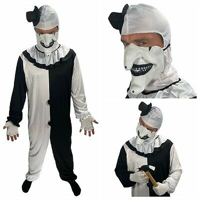 $41.57 • Buy Mens Clown Costume Scary Terrifying Jester Halloween Art Clowns Adult Outfit M/L