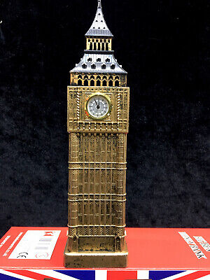 London Souvenir Large Big Ben Piggy Bank Real Clock Money Box Size 23.5cmx5.5cm • 9.95£