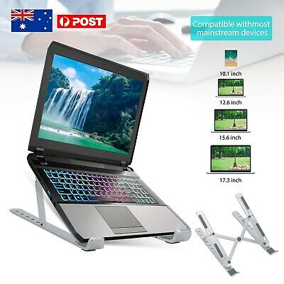 AU24.99 • Buy Portable Foldable Laptop Stand Desk Table Tray Adjustable Bedside W Mouse Pad