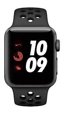 $ CDN289.31 • Buy Apple Watch Nike+ Series 3 38MM GPS+Cellular Space Gray, Authentic Nike Band