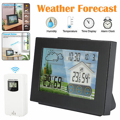 $29.97 • Buy LCD Wireless Weather Station Remote Sensor Indoor Outdoor Calendar Thermometer