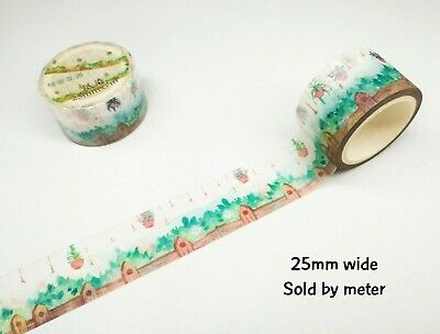 AU1.40 • Buy Japan Washi Tape Beautiful Garden Sold By Meter MT291