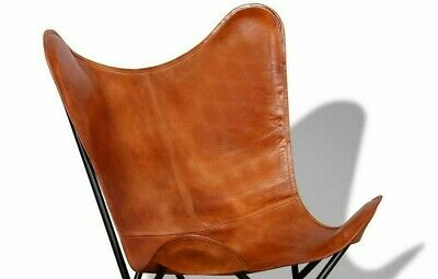 £68.79 • Buy BKF Handmade Vintage Tan Leather Butterfly Chair Relax Armchair Only Cover