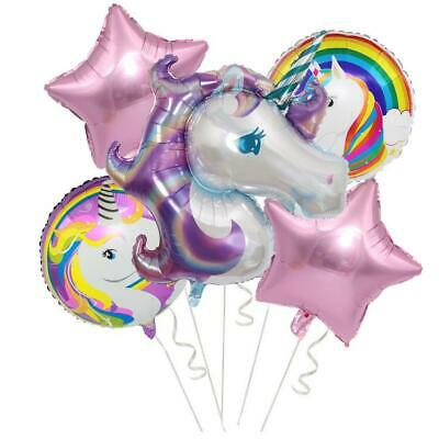 AU9.89 • Buy Large Unicorn Balloon Bouquet Unicorn Birthday Party Balloon Supplies Decoration