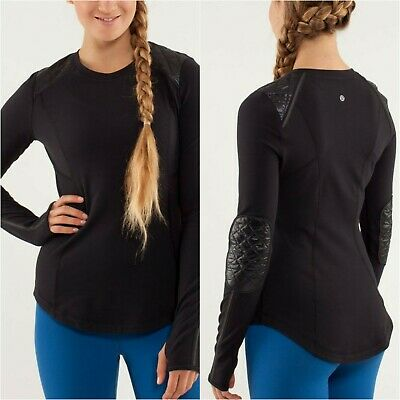 $ CDN89 • Buy 😎 NWT Lululemon RUN: ICE QUEEN LS Long Sleeves, Black Size 6 Reflective Accents