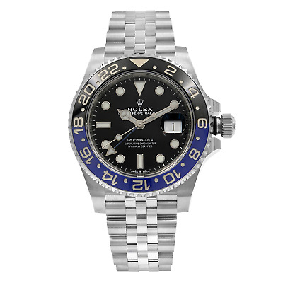 $ CDN21141.89 • Buy Rolex GMT-Master II Batman Ceramic Steel Jubilee Bracelet Watch 126710BLNR