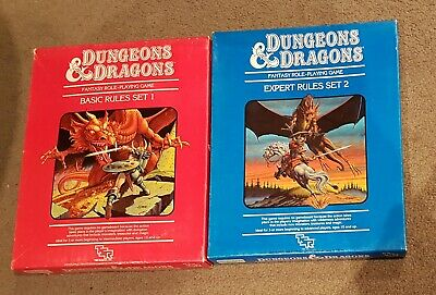 AU100 • Buy Dungeons & Dragons Expert And Basic Rules Set Boxed 1983
