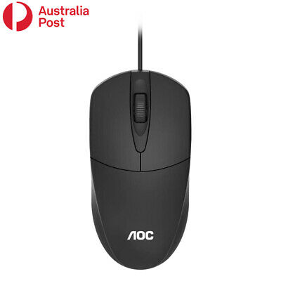 AU11.95 • Buy AOC Optical LED Wired Mouse Mice With USB Cable For PC Laptop Computer