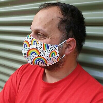 AU15.95 • Buy HANDMADE Face Mask Printed Designs Reusable And Washable 100% AUSTRALIAN MADE