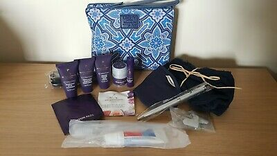 LIBERTY Of LONDON Travel Wash Bags, First Class British Airways Amenity Kit, NEW • 9.99£