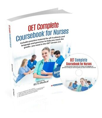 OET Complete Coursebook For Nurses - Brand New OET Book • 39.97£