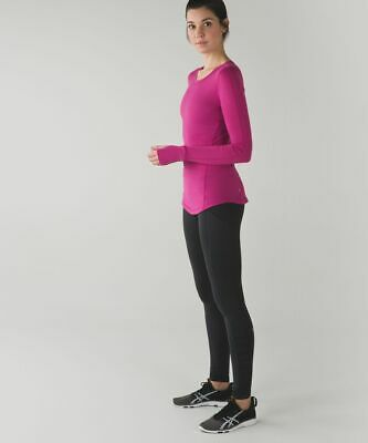 $ CDN83.71 • Buy Lululemon 5 Mile Long Sleeve Raspberry 12 Running Watch Hole