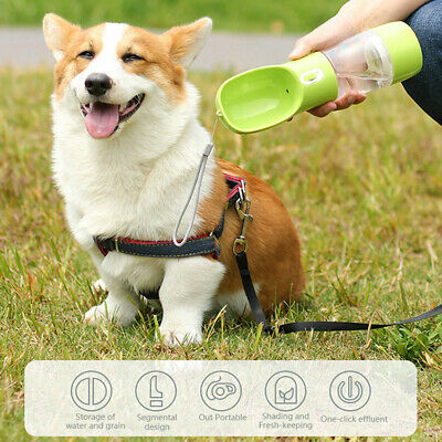 Pet Outdoor Portable Water Bottle Cup  Dog Cat Feeder Water Dispenser 4 Colors • 6.99£
