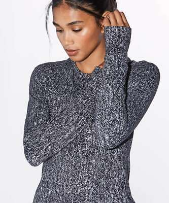 $ CDN77.64 • Buy Lululemon Extra Mile Long Sleeve Running Luon Suited Jacquard Black White 12