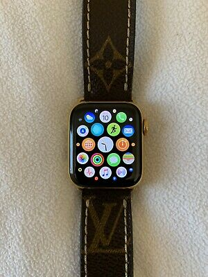 $ CDN1672.75 • Buy 24K Gold Plated Apple Watch Series 4 (40mm) With Leather Louis Vuitton Band