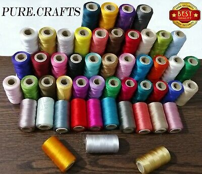 50 X RAYON Silk Art Spools Embroidery Thread 100% Suitable For Brothers, Janome  • 15.99£