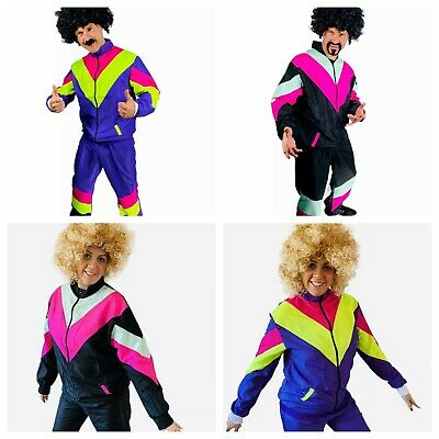 Mens Ladies 80s Shell Suit Fancy Dress Costume Scouser Tracksuit Couples • 14.29£