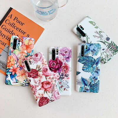 $ CDN4.92 • Buy Matte Color Flower Silicone Case Cover For Samsung Galaxy S20 S10 S9 Note 10 S8