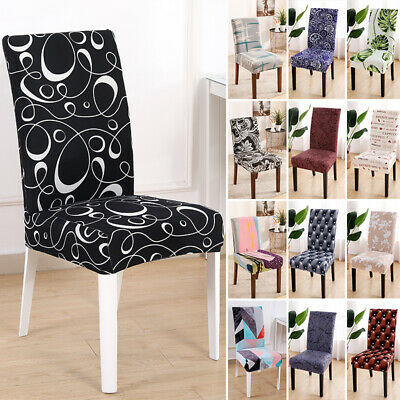 AU12.49 • Buy High Stretch Dining Chair Covers Slipcover Wedding Cover 1/2/4/6Pcs Removable AU